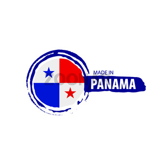Panama flag, vector illustration on a white background