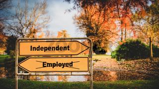 Street Sign Independent versus Employed