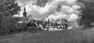 the famous monastery eberbach near eltville hesse germany in black and white