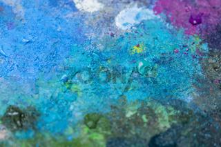 Verschieden Farben auf einer Palette