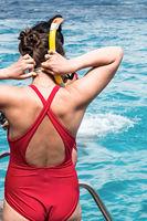 snorkel girl free diving snorkeling caribbean tour