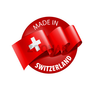 Switzerland flag, vector illustration on a white background