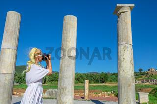 Greek Photographer in Greek Temple