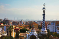 Overview of the city from park Guell