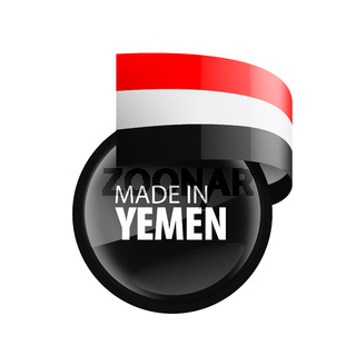Yemeni flag, vector illustration on a white background.