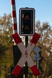 Bahnschranke mit Signal