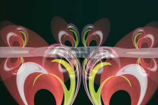 Fancy bright abstract pattern with oval shapes