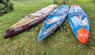 three stand up paddleboard by Starboard