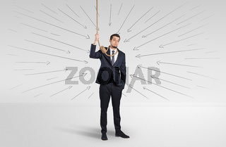 Hopeless businessman trying to suicide