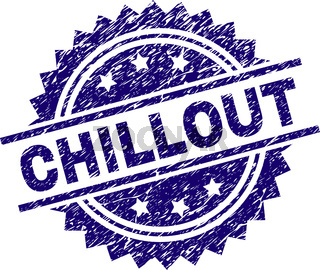 Scratched Textured CHILLOUT Stamp Seal