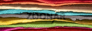 collection of colorful textured paper  sheets